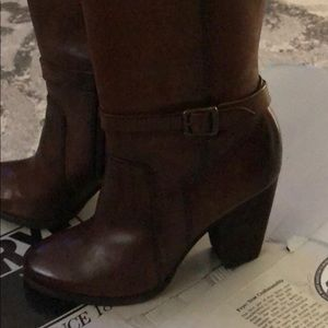 Frye Patty Riding Tall Boots - Redwood Color
